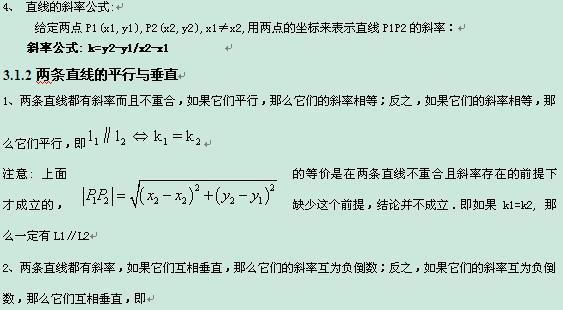 2013高考数学知识点总结-直线的倾斜角和斜率