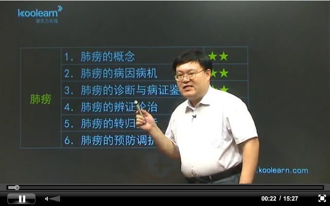 中医执业助理医师考试辅导之内科学