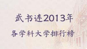 武书连2013中国大学各学科门类排行榜