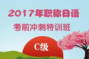 2017年职称日语考前冲刺特训【C级】