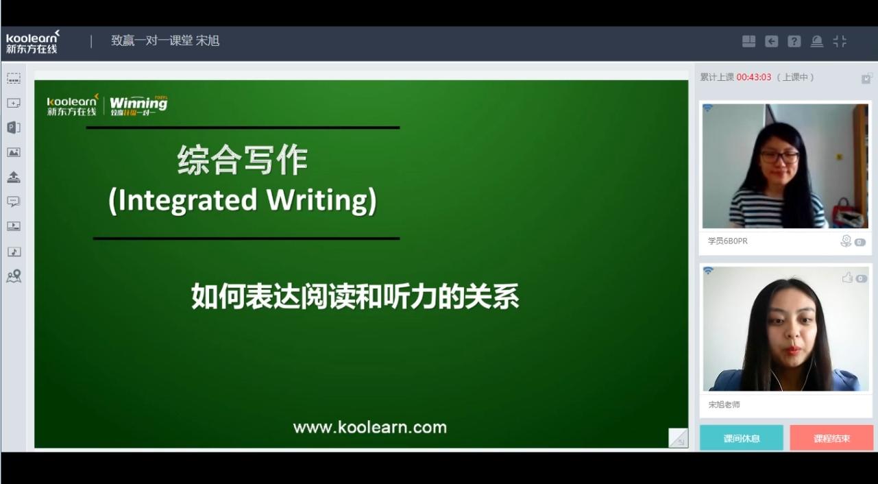 新东方在线宋旭:托福综合写作如何表达阅读和听力精讲